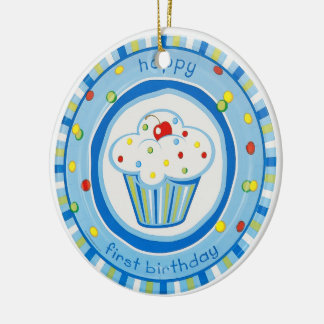 happy first birthday christmas ornament