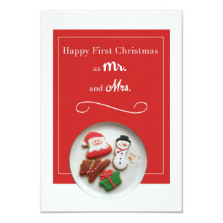 Happy First Christmas as Mr. and Mrs. White Border Card