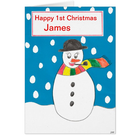 Happy First Christmas James Card