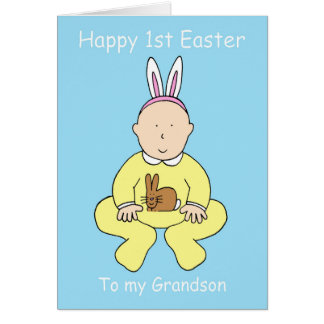 Happy First Easter to my Grandson. Card