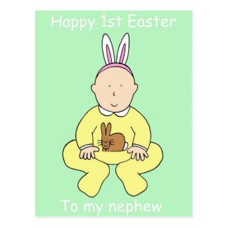 Happy First Easter to my nephew. Postcard