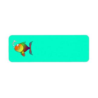 Happy fish Avery Label Return Address Label