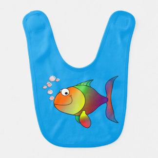Happy fish baby bib