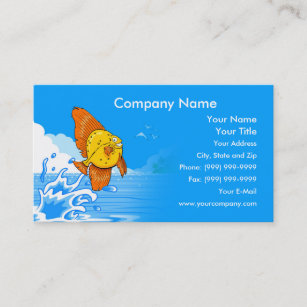 Fish business cards business card printing zazzle uk happy fish business card colourmoves
