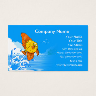 Fish business cards business card printing zazzle uk happy fish business card colourmoves Gallery