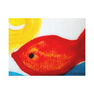Happy Fish! Canvas Print