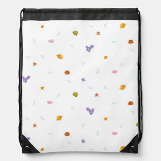 Happy Fish Friends Drawstring Bag