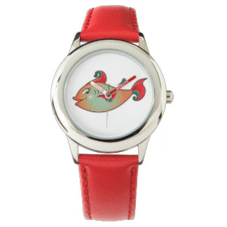 Happy fish leather watch for kids
