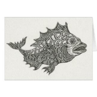 Happy Fish Notecard