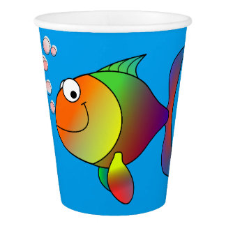 Happy fish paper cup