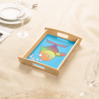 Happy fish serving tray