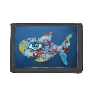 Happy Fish Trifold Wallet