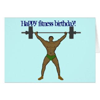 Happy fitness birthday Card