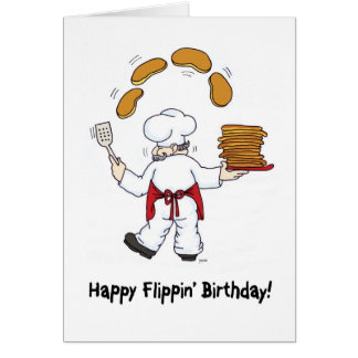 Happy Flippin' Birthday Greeting Card