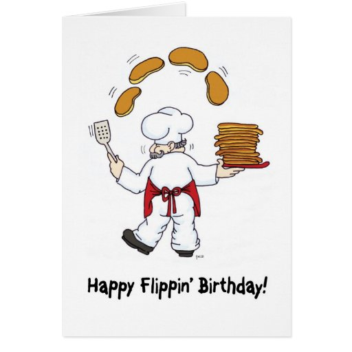 Happy Flippin' Birthday Greeting Card