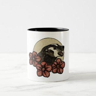 Happy Floral Badger Mug