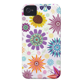 Happy floral pattern iPhone 4 case