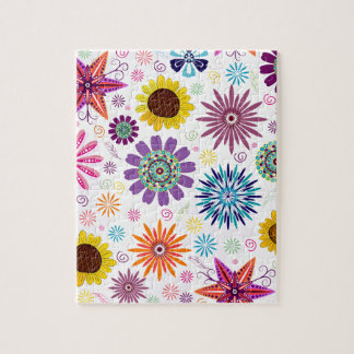 Happy floral pattern jigsaw puzzle