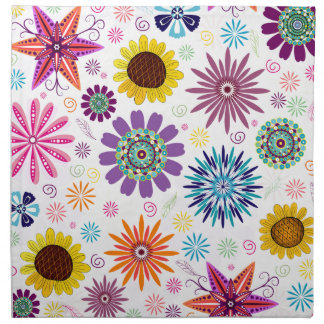 Happy floral pattern napkin