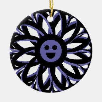 Happy Flower Friendship Ornament - Blue