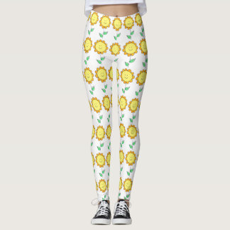happy flower leggings