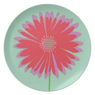 Happy Flower Mint Dinner Plate In Mint