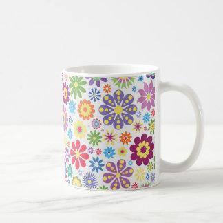Happy flower power coffee mug