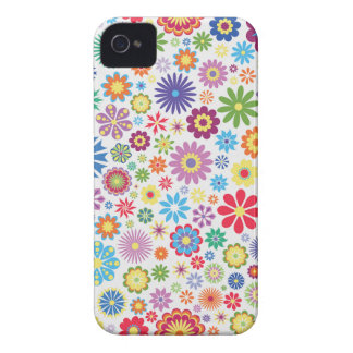 Happy flower power iPhone 4 Case-Mate cases