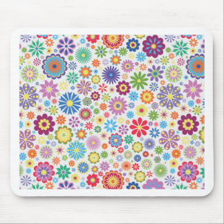 Happy flower power mouse pad