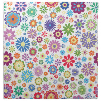 Happy flower power napkin