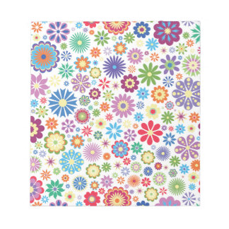 Happy flower power notepad