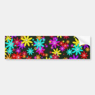 Happy Flower Wallpaper Bumper Sticker
