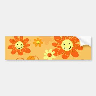Happy Flowers Bumper Sticker