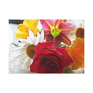 Happy Flowers Gallery Wrapped Canvas