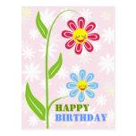 Happy Flowers Happy Birthday Postcards