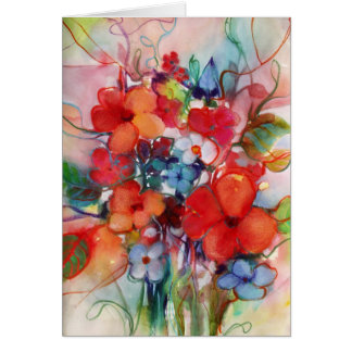 Happy Flowers • Michelle Abrams - card