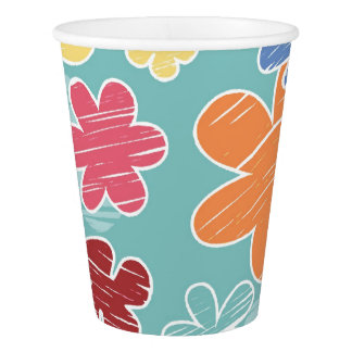 Happy Flowers Paper Cup (9 oz)