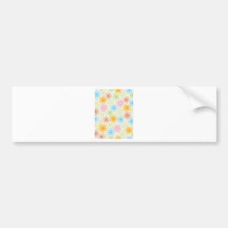 Happy Flowers Pattern Bumper Sticker