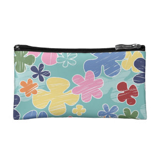 Happy Flowers Small Cosmetic Bag