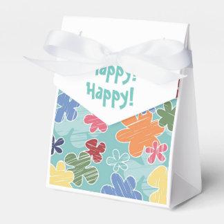 Happy Flowers Tent Favor Box