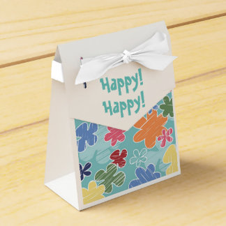 Happy Flowers Tent Favor Box Favour Box