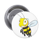 Happy Flying Bee Buttons