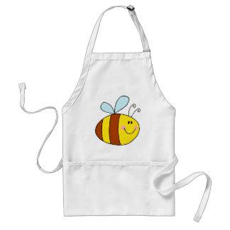 happy flying honeybee honey bee cartoon aprons