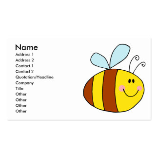 happy flying honeybee honey bee cartoon pack of standard business cards