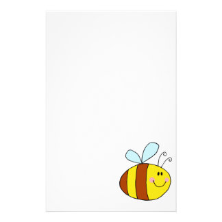happy flying honeybee honey bee cartoon stationery