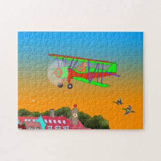 Happy Flying Jigsaw Puzzle