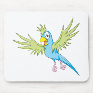 Happy Flying Parrot Mouse Pads
