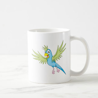 Happy Flying Parrot Coffee Mugs