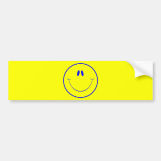 HAPPY FOREVER2 SMILEY FACE CARTOON EXPRESSIONS BUMPER STICKER
