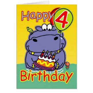 Happy fourth birthday card